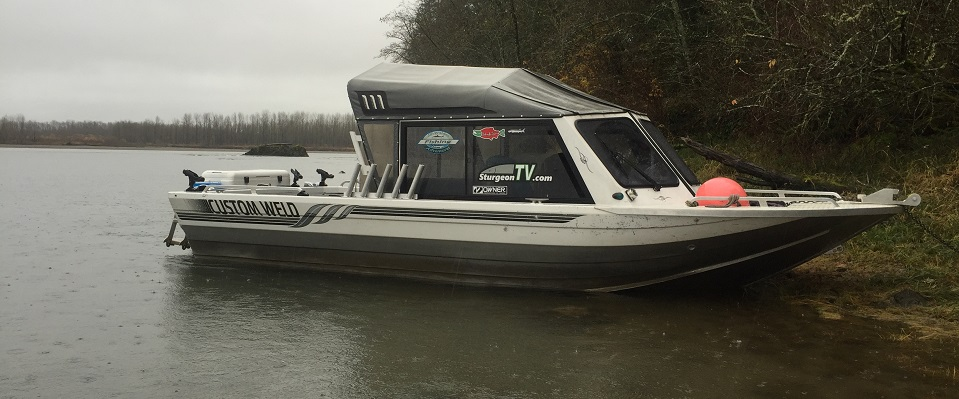 jet boat, customweld jet boats, sturgeon fishing boat, fraser river sturgeon boat