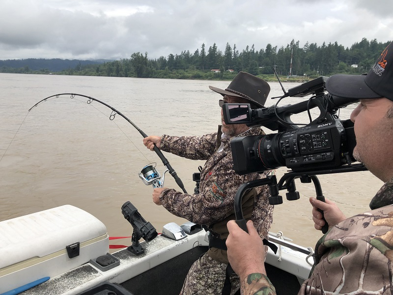 sturgeon, white sturgeon, sturgeon fishing bc, sturgeon fishing fraser river, kevin peterson, feel the rush tv